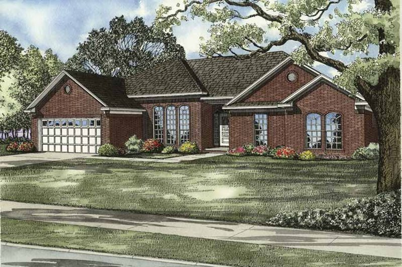 Ranch Exterior - Front Elevation Plan #17-3094