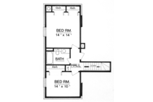 Traditional Floor Plan - Upper Floor Plan Plan #45-565