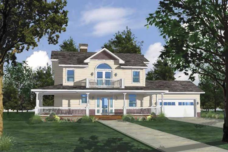 Architectural House Design - Country Exterior - Front Elevation Plan #1042-5