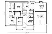 Ranch Style House Plan - 3 Beds 2.5 Baths 2042 Sq/Ft Plan #20-125 Floor Plan - Main Floor Plan