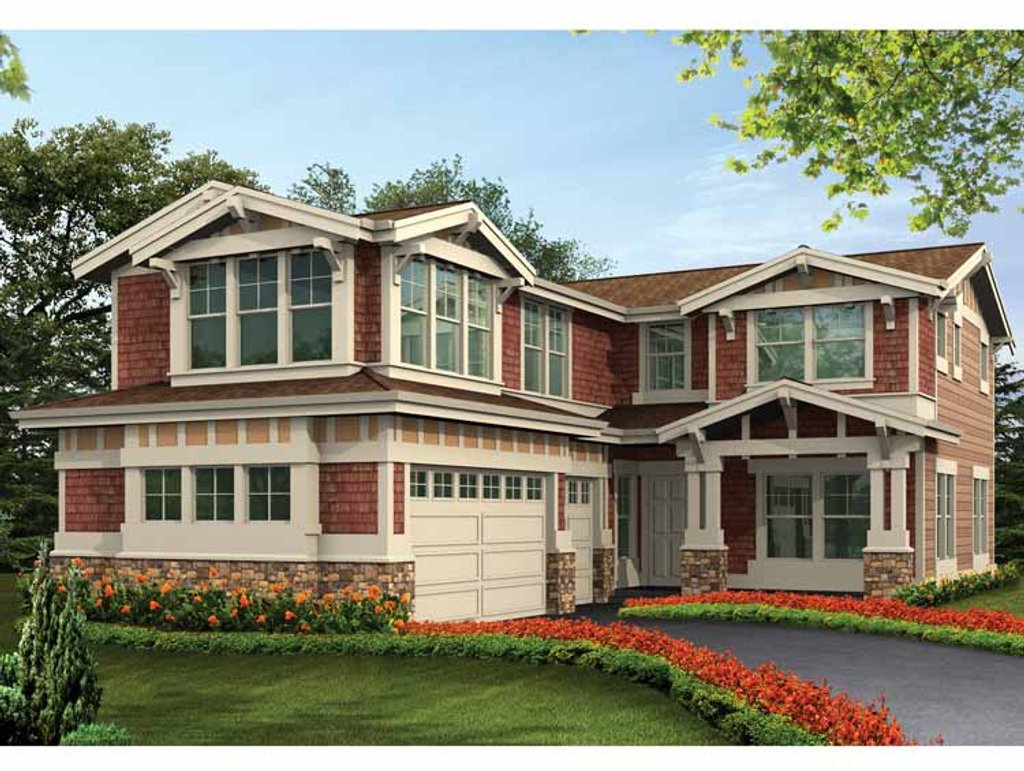 Craftsman style house plan 5 beds 4 baths 3416 sq ft for Homplans