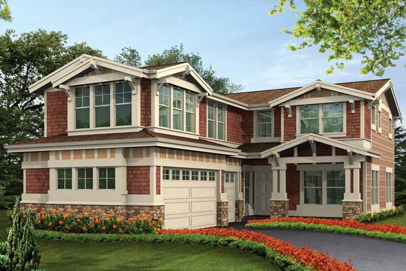 Craftsman Exterior - Front Elevation Plan #132-431 - Houseplans.com