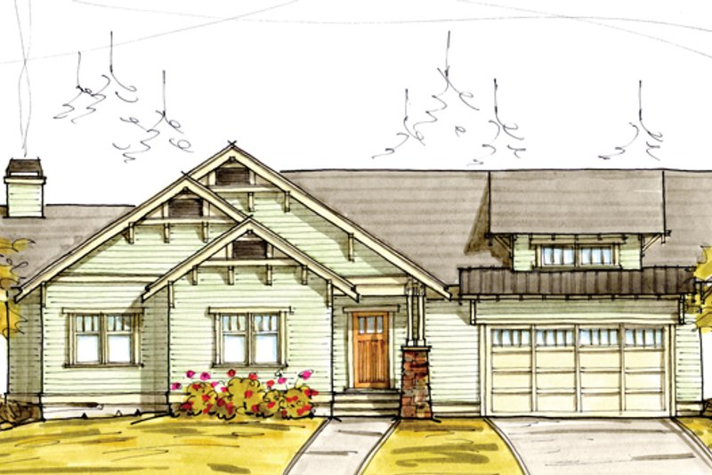 Craftsman Exterior - Front Elevation Plan #895-81