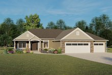 Ranch Exterior - Front Elevation Plan #1064-41