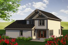 Dream House Plan - Traditional Exterior - Rear Elevation Plan #70-1194