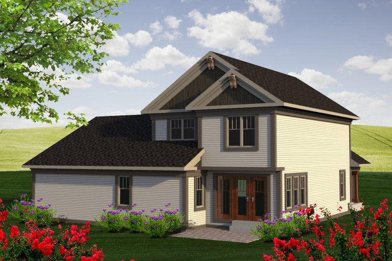 Traditional Exterior - Rear Elevation Plan #70-1194 - Houseplans.com