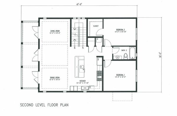 Beach Floor Plan - Main Floor Plan Plan #443-7