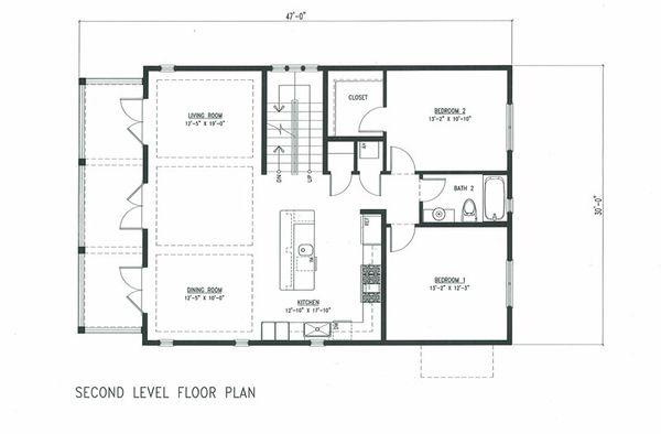 Beach Floor Plan - Main Floor Plan #443-7