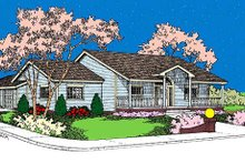 House Design - Traditional Exterior - Front Elevation Plan #60-623