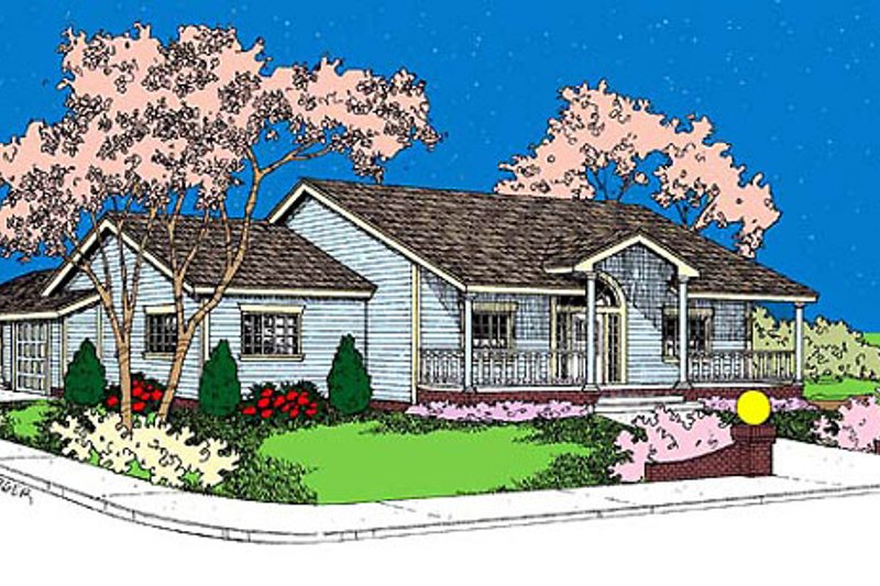 Home Plan - Traditional Exterior - Front Elevation Plan #60-623