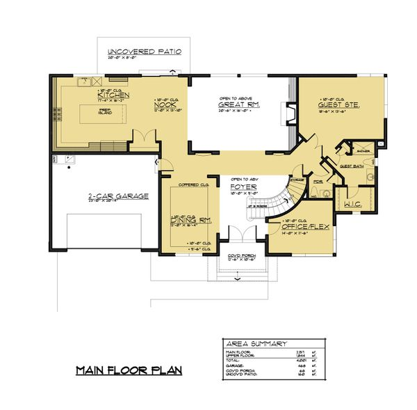 Traditional Floor Plan - Main Floor Plan Plan #1066-60
