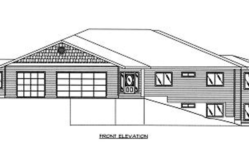 Modern Exterior - Other Elevation Plan #117-524 - Houseplans.com
