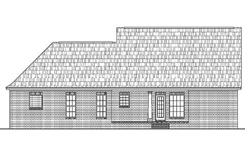Southern Exterior - Rear Elevation Plan #430-11 - Houseplans.com
