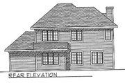 European Style House Plan - 3 Beds 2.5 Baths 1740 Sq/Ft Plan #70-185 Exterior - Rear Elevation