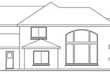 European Exterior - Rear Elevation Plan #124-209