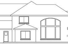 Home Plan - European Exterior - Rear Elevation Plan #124-209