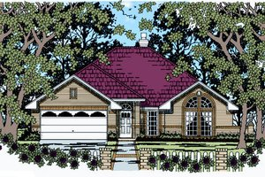 Traditional Exterior - Front Elevation Plan #42-363