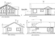 Traditional Style House Plan - 2 Beds 1 Baths 817 Sq/Ft Plan #47-307 Exterior - Rear Elevation
