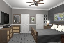 Architectural House Design - Cottage Interior - Bedroom Plan #56-715