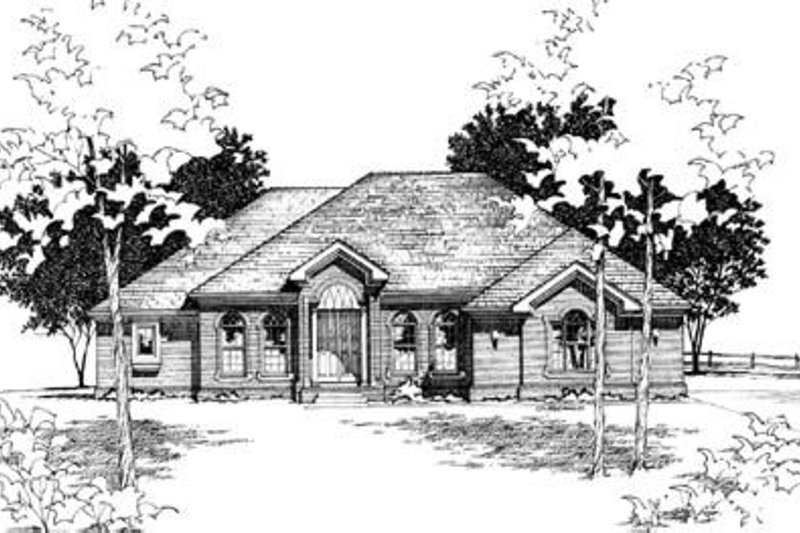 Traditional Exterior - Front Elevation Plan #20-1050 - Houseplans.com