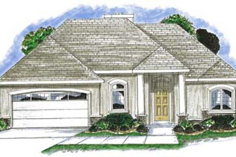 Mediterranean Exterior - Front Elevation Plan #20-1379