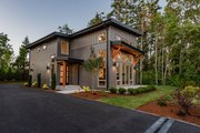 Contemporary Style House Plan - 3 Beds 2.5 Baths 2102 Sq/Ft Plan #1070-14 Exterior - Other Elevation