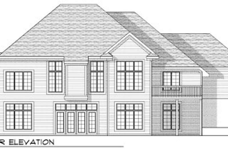 European Exterior - Rear Elevation Plan #70-809 - Houseplans.com