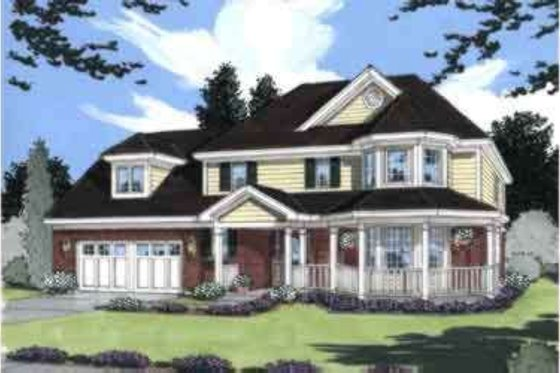 Traditional Exterior - Front Elevation Plan #46-296