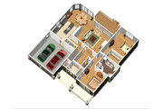 Country Style House Plan - 2 Beds 1 Baths 1842 Sq/Ft Plan #25-4449 Floor Plan - Main Floor Plan