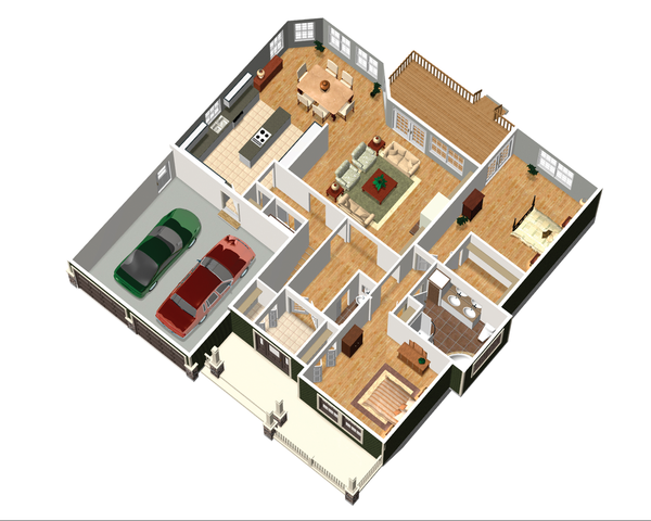 Country Floor Plan - Main Floor Plan Plan #25-4449