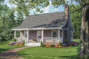 Cabin Exterior - Front Elevation Plan #21-108