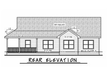 House Plan Design - Farmhouse Exterior - Rear Elevation Plan #20-2444