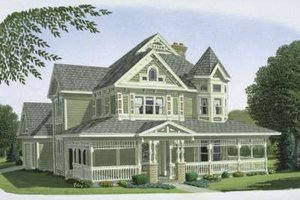 Victorian Exterior - Front Elevation Plan #410-111