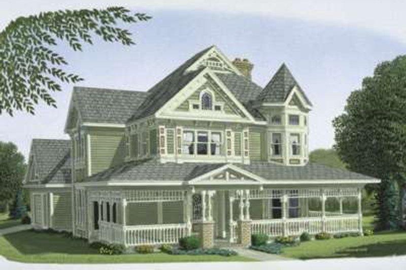 Victorian Exterior - Front Elevation Plan #410-111 - Houseplans.com