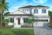 Contemporary Style House Plan - 4 Beds 4 Baths 3582 Sq/Ft Plan #938-92 Exterior - Front Elevation