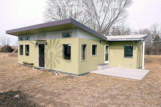 Modern style SIP designed home, front elevation