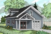 Craftsman Style House Plan - 0 Beds 1 Baths 501 Sq/Ft Plan #124-660 Exterior - Front Elevation