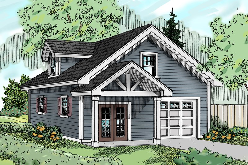 Craftsman Exterior - Front Elevation Plan #124-660