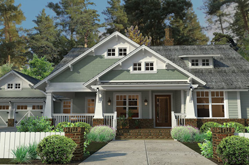 Craftsman Exterior - Front Elevation Plan #120-249 - Houseplans.com