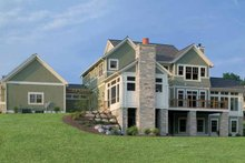 Architectural House Design - Classical Exterior - Rear Elevation Plan #928-55