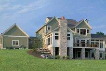 House Design - Classical Exterior - Rear Elevation Plan #928-55