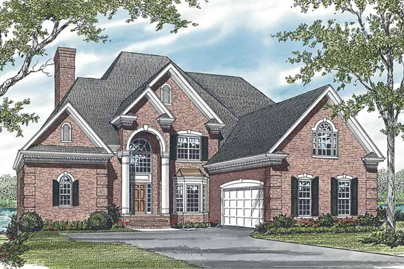 Traditional Exterior - Front Elevation Plan #453-590 - Houseplans.com