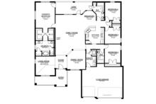 Craftsman Floor Plan - Main Floor Plan Plan #1058-51