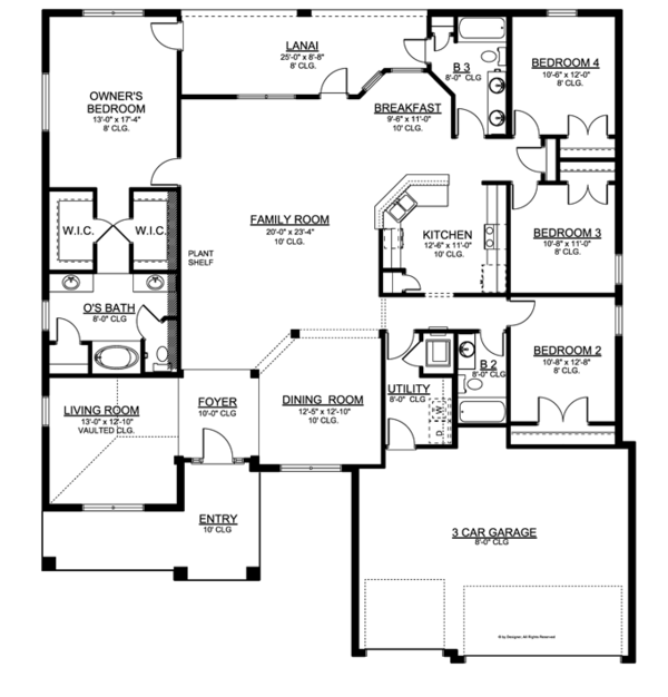 Home Plan - Craftsman Floor Plan - Main Floor Plan #1058-51