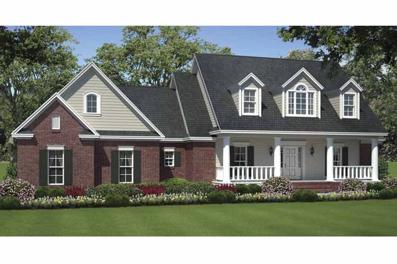 Country Exterior - Front Elevation Plan #21-424 - Houseplans.com