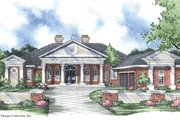 Classical Style House Plan - 4 Beds 3.5 Baths 3764 Sq/Ft Plan #930-302 Exterior - Front Elevation
