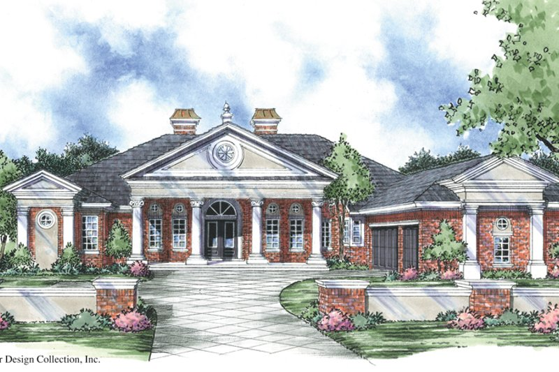 Dream House Plan - Classical Exterior - Front Elevation Plan #930-302