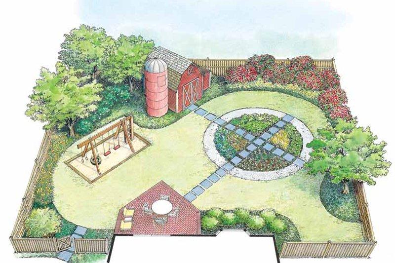Exterior - Rear Elevation Plan #1040-56 - Houseplans.com