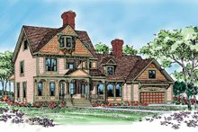 Victorian Exterior - Front Elevation Plan #72-896
