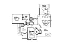 European Floor Plan - Upper Floor Plan Plan #310-1276